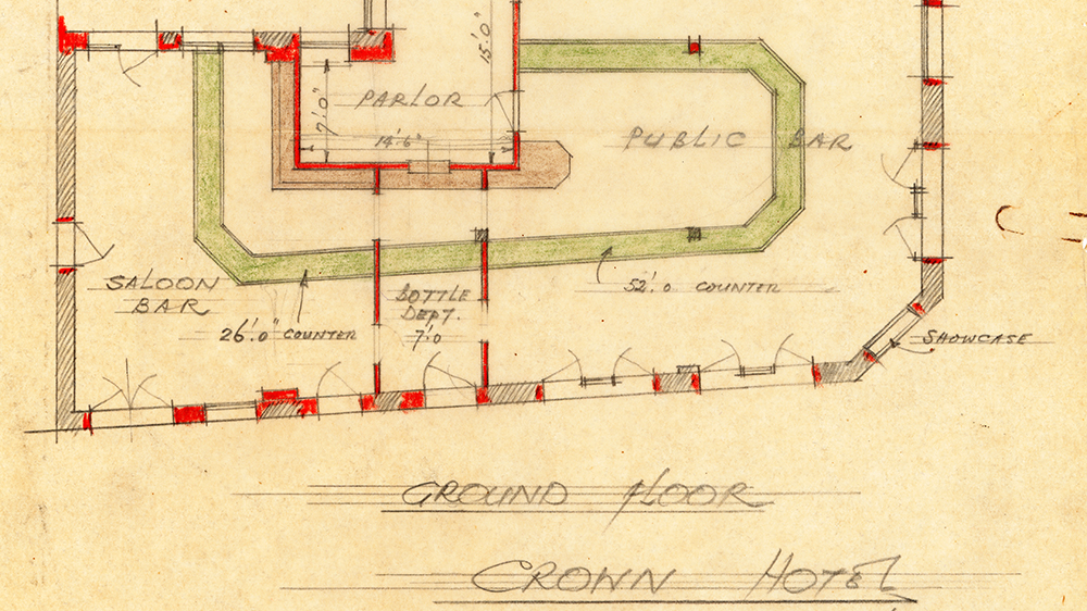 Crown Hotel - proposed amended layout