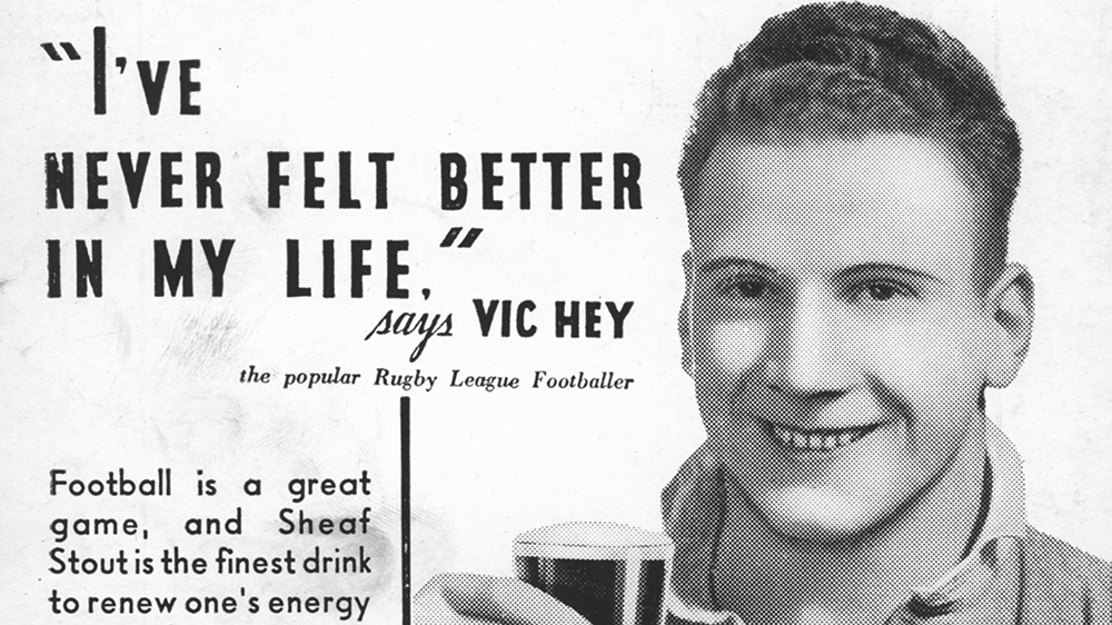 Tooth's Sheaf Stout advertisement, circa 1934.